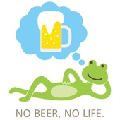 frog and beer